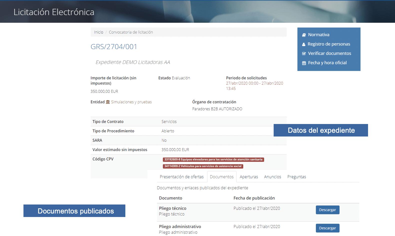02-perfil del contratante-convocatoria de licitación electrónica