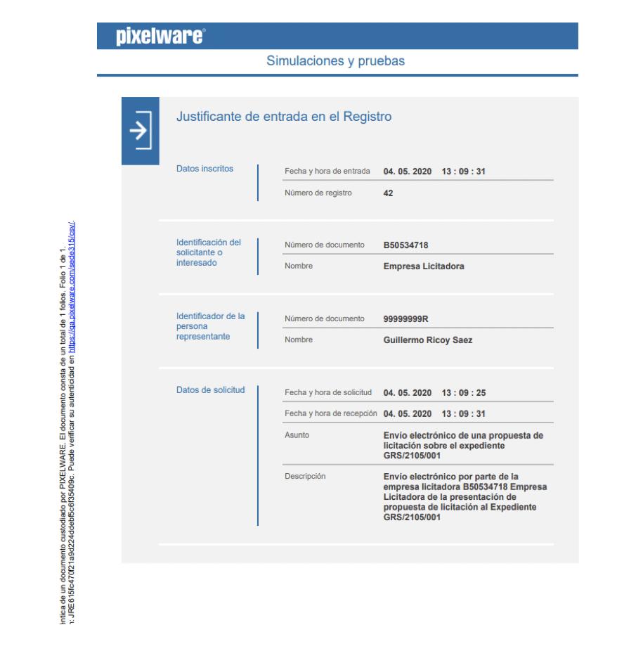 10-licitación electrónica-justificante de la presentación de la oferta