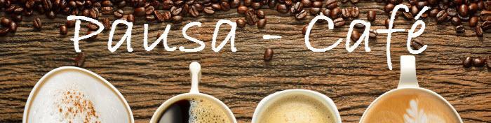 granos de café y tazas de café - pausa café